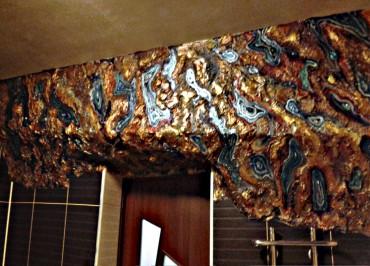 Художественная роспись с гипсовым рельефом