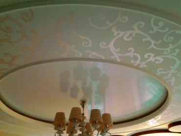 Роспись потолка под пост модерн